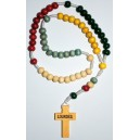 Rosary of Lourdes missionary of wood.