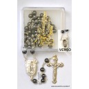 "Hematite rosary Ø6 with some water from ""Lourdes"""